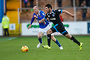 Carlisle United Midfielder Jason Kennedy chasing the ball during the Sky Bet League 2 match between Carlisle United and Portsmouth at Brunton Park, Carlisle, England on 21 November 2015. Photo by Craig McAllister.