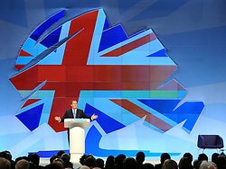 © Licensed to London News Pictures. 05/10/2011. MANCHESTER. UK. The Rt Hon Liam Fox MP, Secretary of State for Defence at The Conservative Party Conference at Manchester Central today, October 5, 2011. Photo credit:  Stephen Simpson/LNP
