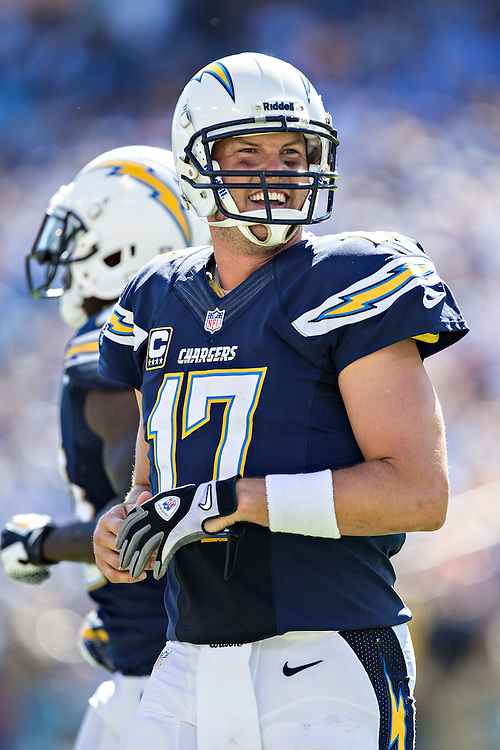NASHVILLE, TN - SEPTEMBER 22:  Philip Rivers #17 of the San Diego Chargers looks to the sidelines during a game against the Tennessee Titans at LP Field on September 22, 2013 in Nashville, Tennessee.  The Titans defeated the Chargers 20-17.  (Photo by Wesley Hitt/Getty Images) *** Local Caption *** Philip Rivers