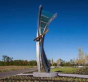 Architectural exterior image of sculpture Garden at 206 Research Blvd North Gate