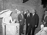 24/08/1984<br /> 08/24/1984<br /> 24 August 1984<br /> Opening of ROSC '84 at the Guinness Store House, Dublin. Mr Pat Murphy gives a description of one of the art exhibits to   Lord Iveagh; President Patrick Hillery and Minister of State for Arts and Culture Ted Nealon.