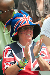 LONDON, ENGLAND - Saturday, June 26, 2010: A British tennis supporter on Centre Court on day six of the Wimbledon Lawn Tennis Championships at the All England Lawn Tennis and Croquet Club. (Pic by David Rawcliffe/Propaganda)