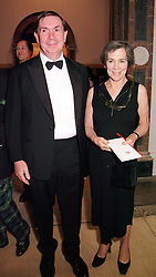 The Lord Chancellor LORD IRVINE and LADY IRVINE<br />  at a dinner in London on 23rd May 2000.OEL 84