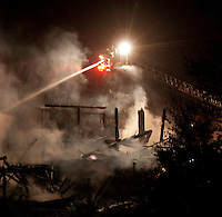 Herbert barn fire Hoyt Road in Gilford, NH on Thursday evening.  (Karen Bobotas/for the Laconia Daily Sun)