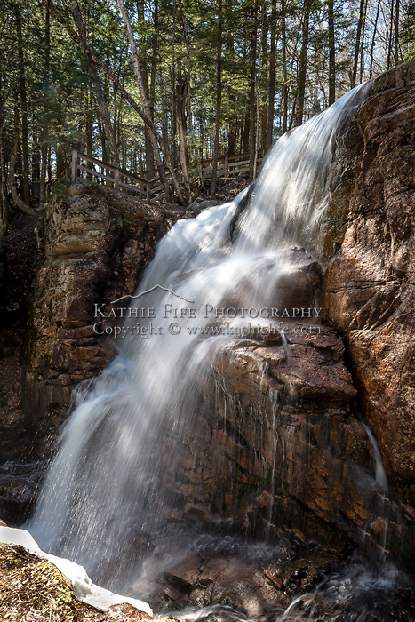 The Flume waterfall, Lincoln, NH.
