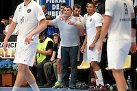 Joie PSG / Philippe Gardent / Jakov Gojun / Daniel Narcisse - 26.04.2015 - Handball - Nantes / Paris Saint Germain - Finale Coupe de France<br /> Photo : Andre Ferreira / Icon Sport