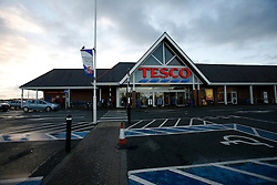 UNITED KINGDOM WALES ANGLESEY 18NOV10 - Tesco supermarket in Holyhead, Anglesey, north Wales where Prince William serves as an RAF Search and Rescue helicopter pilot...Prince William and his fiancee Kate Middleton have been seen shopping at this store...jre/Photo by Jiri Rezac..© Jiri Rezac 2010