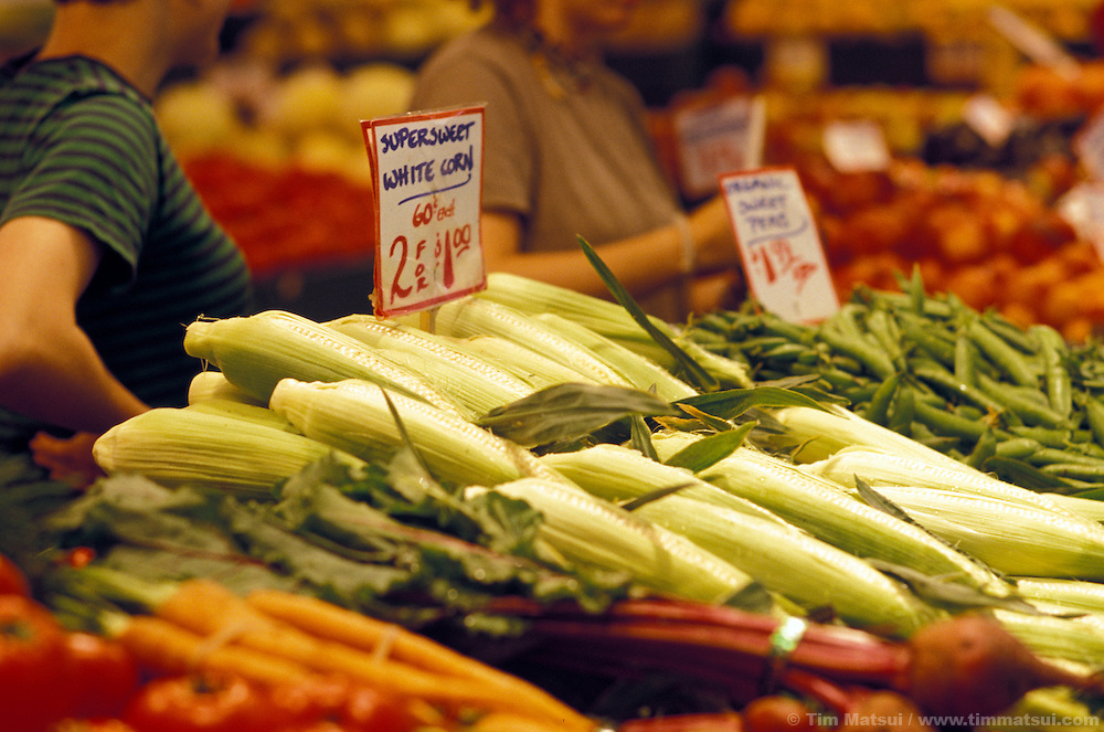Produce for sale at Seattle's Pike Place Market.