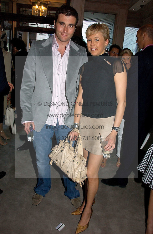 LADY ALEXANDRA SPENCER-CHURCHILL and DAVID PEACOCK at a party to celebrate the re-opening of the David Morris Flagship store at 180 New Bond Street, London on 14th June 2006.<br />
