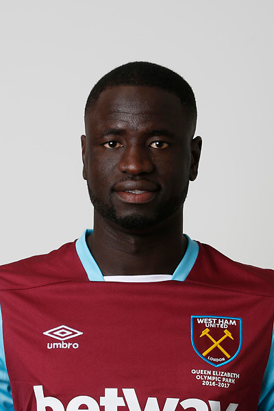 LONDON, ENGLAND - AUGUST 06:  Cheikhou Kouyate of West Ham poses during a Premier League portrait session on August 6, 2016 in London, England. (Photo by Tom Shaw/Getty Images)