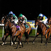 Vhujon and Robbie Fitzpatrick winning the 6.45 race