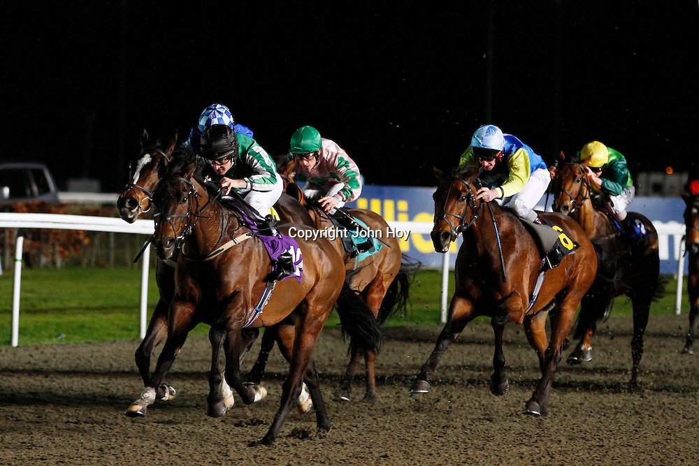 Vhujon and Robbie Fitzpatrick winning the 6.45 race
