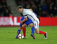 England's James Ward-Prowse tussles with Italy's Federico Di Francesco during the Under 21 International Friendly match at the St Mary's Stadium, Southampton. Picture date November 10th, 2016 Pic David Klein/Sportimage