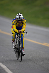 Eudalo Asencio (CAI) during stage 1 of the Tour of Virginia.  The Tour of Virginia began with a 4.7 mile individual time trial near Natural Bridge, VA on April 24, 2007. Formerly known as the Tour of Shenandoah, the ToV has gained National Race Calendar (NRC) status for the first time in its five year history.