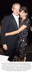 Model LISA BARBUSCIA and MR ANTON BILTON at a ball in London on 23rd October 2002.PEK 248