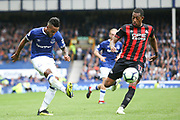 Everton striker Theo Walcott (11) shoots at goal during the Premier League match between Everton and Huddersfield Town at Goodison Park, Liverpool, England on 1 September 2018.