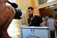 Luka karabatic - 17.06.2015 - Proces des paris sportifs du Handball - Montpellier<br /> Photo : Alexandre Dimou / Icon Sport