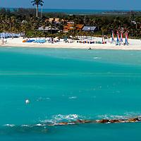 Caribbean, Bahamas, Castaway Cay.  View of Castaway Cay.