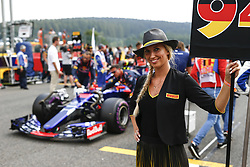 August 27, 2017 - Spa-Francorchamps, Belgium - Motorsports: FIA Formula One World Championship 2017, Grand Prix of Belgium, ..grid girl  (Credit Image: © Hoch Zwei via ZUMA Wire)