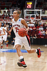 March 19, 2011; Stanford, CA, USA; Texas Tech Lady Raiders guard Casey Morris (15) dribbles the ball up court against the St. John's Red Storm during the second half of the first round of the 2011 NCAA women's basketball tournament at Maples Pavilion. St. John's defeated Texas Tech 55-50.