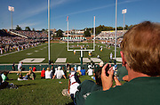 07-18418.Photo by Kevin Riddell.Fans take in the Ohio University football game in Peden Stadium  Kent State on Saturday, September 29, 2007.