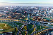 Nederland, Zuid-Holland, IJsselmonde / Charlois , 07-02-2018; Vaanplein. Kruising A 29 met A15.<br /> Traffic junction Vaanplein.<br /> luchtfoto (toeslag op standard tarieven);<br /> aerial photo (additional fee required);<br /> copyright foto/photo Siebe Swart