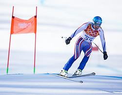 07.02.2014, Rosa Khutor Alpine Resort, Krasnaya Polyana, RUS, Sochi 2014, Abfahrt, Herren, 2. Trainingslauf, im Bild Alexander Glebov (RUS) // Alexander Glebov (RUS) during the 2nd practice run of mens downhill to the Olympic Winter Games 'Sochi 2014' at the Rosa Khutor Alpine Resort in Krasnaya Polyana, Russia on 2014/02/07. EXPA Pictures © 2014, PhotoCredit: EXPA/ Johann Groder
