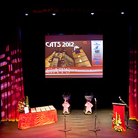 Picture Shows : .The 10th Annual Critics? Awards for Theatre in Scotland (CATS), Sunday 10th June at The Tron Theatre, Glasgow. Presented by Alan Cumming..Picture by Drew Farrell Tel : 07721-735041..NOTES TO EDITORS:.For further information on the CATS visit www.criticsawards.theatrescotland.com.Alan Cumming who is starring in Macbeth, the National Theatre of Scotland?s forthcoming play directed by John Tiffany and Andrew Goldberg at Tramway, Glasgow from Wednesday 13th June - Saturday 30th June, 2012, presents the CATS Awards. .? Over 200 productions were considered for nominations.? 123 were eligible for Best New Play.? 36 of those productions were created for children and young people.? 23 shows have reached the final nominations stage.www.criticsawards.theatrescotland.com.For further press information or images please contact:.Wendy Grannon Tel: +44 (0) 07916 137 632 .E: wendy@wendygrannon.co.uk...