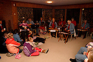 The Hithergreen Center Strummers entertain in the historic Smith home in Bill Yeck Park, part of the Centerville-Washington Township Park District, Friday, December 17, 2010.  The Smith house had hot chocolate and music for those on the Holiday Stroll and luminaria walk.