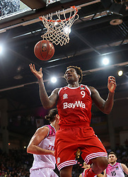 28.03.2016, Telekom Dome, Bonn, GER, Beko Basketball BL, Telekom Baskets Bonn vs FC Bayern Muenchen, 23. Runde, im Bild vl. Deon Thompson (Muenchen, #9) // during the Beko Basketball Bundes league 23th round match between Telekom Baskets Bonn and FC Bayern Munich at the Telekom Dome in Bonn, Germany on 2016/03/28. EXPA Pictures © 2016, PhotoCredit: EXPA/ Eibner-Pressefoto/ Fleig<br /> <br /> *****ATTENTION - OUT of GER*****
