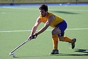Kane Russell in action for Southern. 2014 Ford National Hockey League. Southern v  Auckland at Alexander McMillan Hockey Centre, Dunedin, New Zealand. Saturday 30 August 2014. New Zealand. Photo: Richard Hood/photosport.co.nz