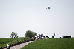 The helicopter hovers over the break during the Amstel Gold Race - Ladies Edition - a 126.8 km road race, between Maastricht and Valkenburg on April 21, 2019, in Limburg, Netherlands. (Photo by Balint Hamvas/Velofocus.com)