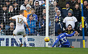 Goal scored by Cardiff City midfielder Junior Hoilett (33) during the EFL Sky Bet Championship match between Leeds United and Cardiff City at Elland Road, Leeds, England on 3 February 2018. Picture by Paul Thompson.