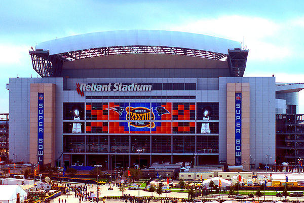 Stock photo of Reliant Stadium hosting Super Bowl XXXVIII