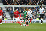 Derby County defender Marcus Olsson during the Sky Bet Championship match between Derby County and Nottingham Forest at the iPro Stadium, Derby, England on 19 March 2016. Photo by Jon Hobley.
