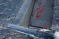 CLIENT: Boating NZ/Fairfax Media<br /> DESCRIPTION: Helicopter photo shoot of 30-meter racing yacht Alfa Romeo