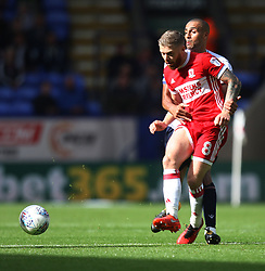 Adam Clayton of Middlesbrough (L) and Darren Pratley of Bolton Wanderers in action - Mandatory by-line: Jack Phillips/JMP - 09/09/2017 - FOOTBALL - Macron Stadium - Bolton, England - Bolton Wanderers v Middlesbrough - English Football League Championship