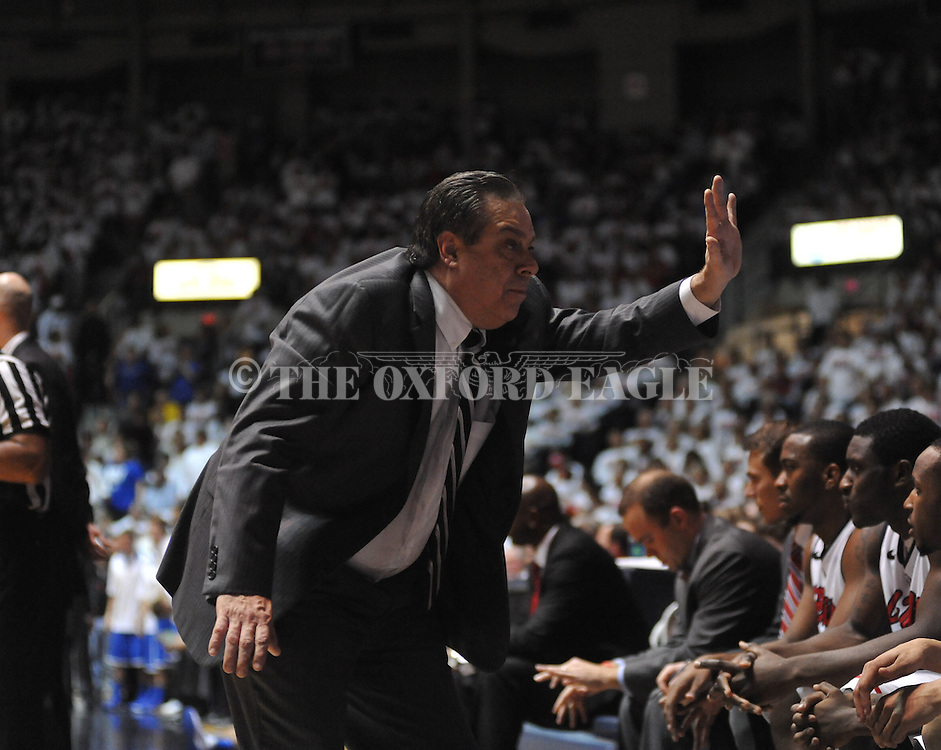 "Ole Miss assistant coach Sergio Rouco vs. Kentucky at the C.M. ""Tad"" Smith Coliseum on Tuesday, January 29, 2013. Kentucky won 87-74. (AP Photo/Oxford Eagle, Bruce Newman).."