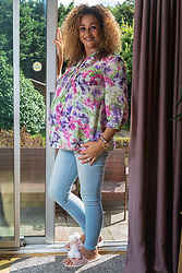 Pregnant mother Tracey Britten who is expecting the birth of quadruplets in the next few weeks. London, September 07 2018.