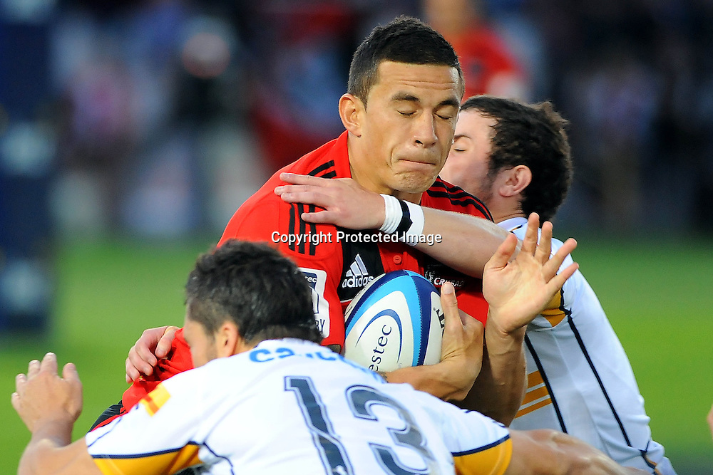 Crusader Sonny Bill Williams during the Investec Super Rugby - Crusaders v Brumbies, 11 March 2011, Trafalgar Park, Nelson, New Zealand. Photo: Chris Symes/photosport.co.nz