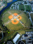 Aerial view of the baseball complex in the City of Weston