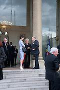 AMY FINE COLLINS; REINALDO HERRERA; , Legion d'honneur awards. Elysee Palace, Presidence. Rue du Faubourg. 50 Rue de la Bienfaisance. Paris. 07 April 2010