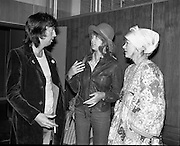 """Arrivals of Eric Clapton and Judy Geeson at DAP..1975..13.09.1975..09.13.1975..13th September 1975..Today saw the arrivals of musician Eric Clapton and actress Judy Geeson at Dublin Airport. They are in Ireland to take part in """"Circasia 75"""" at Straffan House,Co Kildare."""