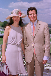 DR JOHN & LADY THERESA CHIPMAN she is the daughter of the Duke of Rutland, at a race meeting in Sussex on 30th July 1997.MAS 64