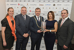 Achill Sports Network accecpting their Westport Lions club Clew Bay People of the Year Awards.<br /> Pic Conor McKeown