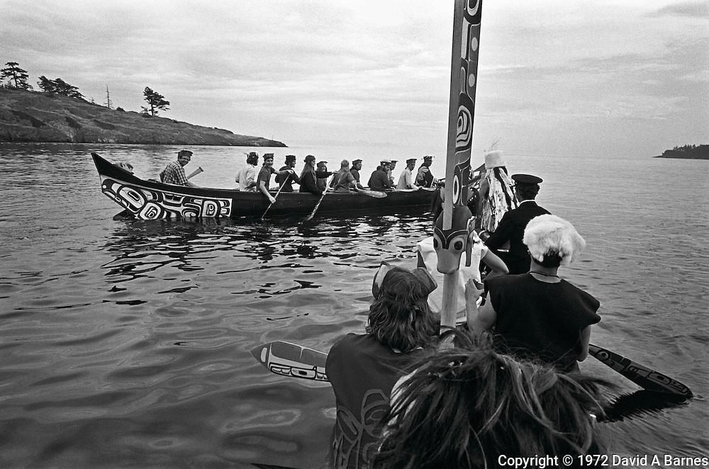 Northwest coast Indian dugout canoes