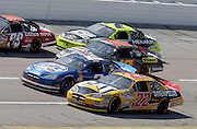 Four-wide racing during the Aarons 499 NASCAR Nextel Cup series race at Talladega Superspeedway in Talladega, AL on Monday, May 1, 2006.