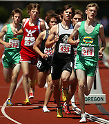 05/23/2009 - Cleveland's Daniel Winn (219) takes the early lead over the rest of the field in the 5A Boy's 1500 Meter Run. The 2009 OSAA/U.S. Bank/Les Schwab Tires 6A-5A-4A Track and Field State Championships were run at Hayward Field in Eugene, Oregon.....KEYWORDS:  City, Portland, sports, Oregon, high school, OSAA, boys, girls, PIL, run, University, team