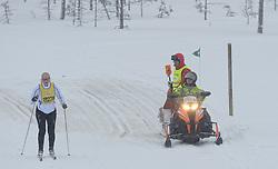 06-03-2016 SWE: Vasaloppet Challenge BvdGF day 7, Sälen<br /> Vandaag een rustig dagje, 90 km langlaufen van Sälen naar Mora in bizarre omstandigheden / Sneeuw scooter