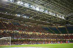 CARDIFF, WALES - Friday, September 5, 2008: Wales take on Azerbaijan under a closed roof during the opening 2010 FIFA World Cup South Africa Qualifying Group 4 match at the Millennium Stadium. (Photo by David Rawcliffe/Propaganda)
